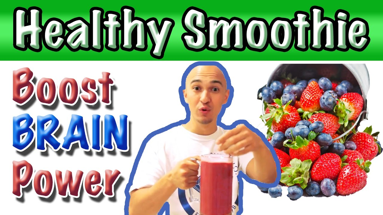? How to Make Fruit Smoothie Juice – Increase Brain Power & Improve Memory | Strawberry Blueberry