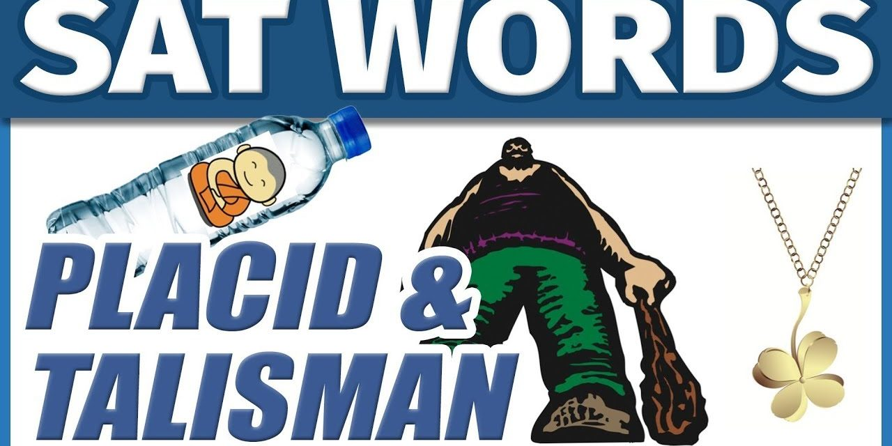 ? College Vocabulary SAT Words – PLACID & TALISMAN | How to Memorize English Vocab Fast | Students