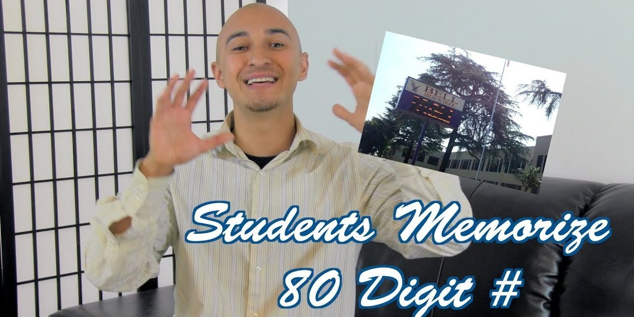 Students Memorize 80 Digit Number with Memory Coach Luis Angel | School Memory Improvement