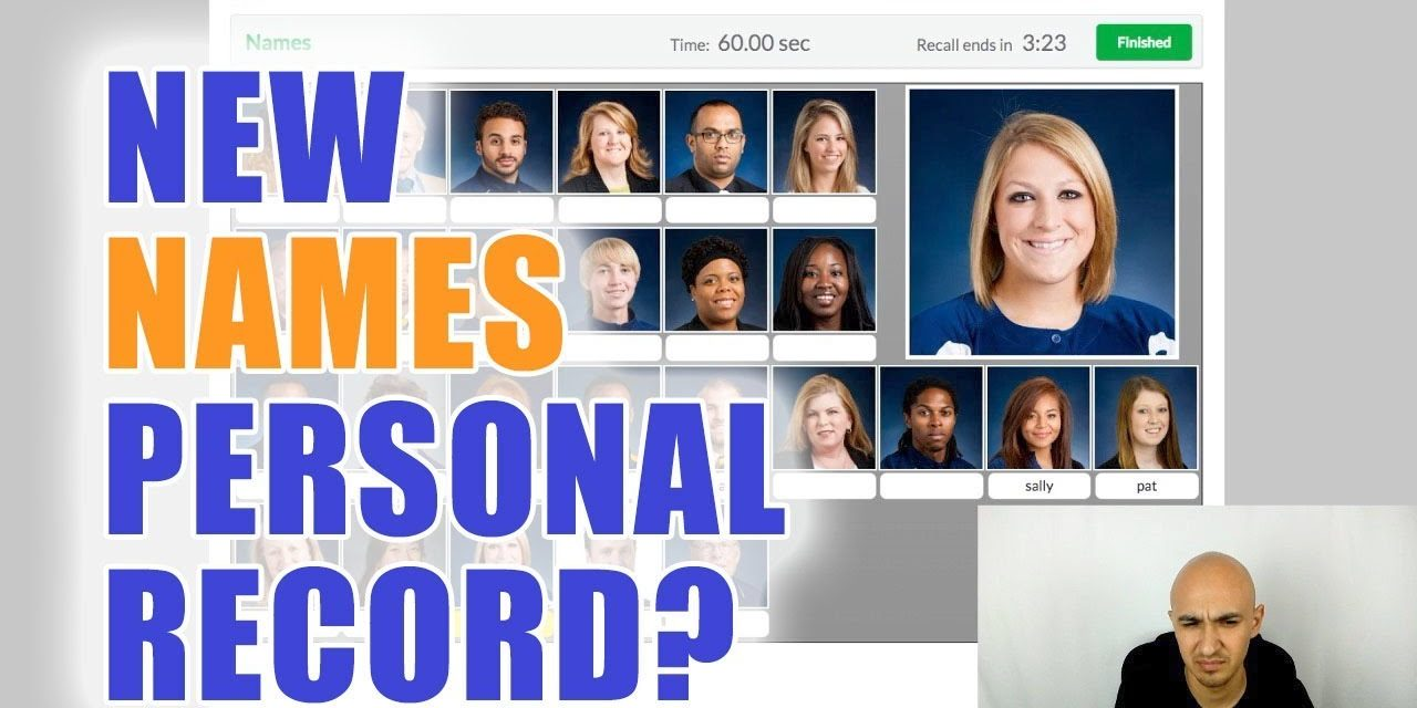 Memorized 20 Names in 60 Seconds – New Personal Record? | Luis Angel Memory Speed Training