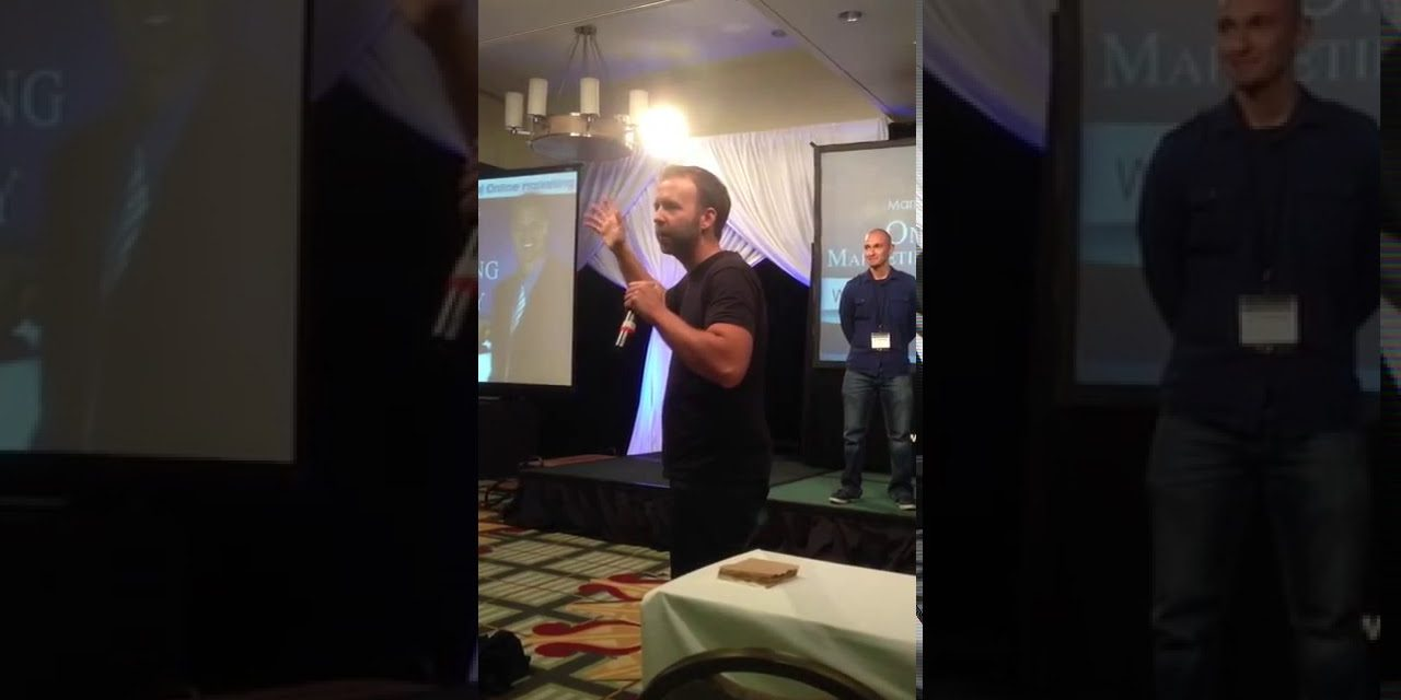 Speaking on Stage with Kyle Cease