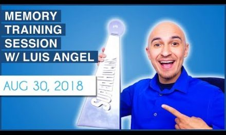 Live Memory Training Session – Aug 30 | Memorize Names, Cards, Images, Numbers with Luis Angel