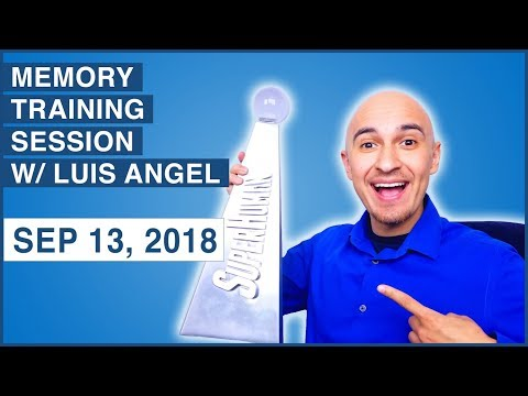 Live Memory Training Session – Sep 13 (Memorize Names, Numbers, Images)