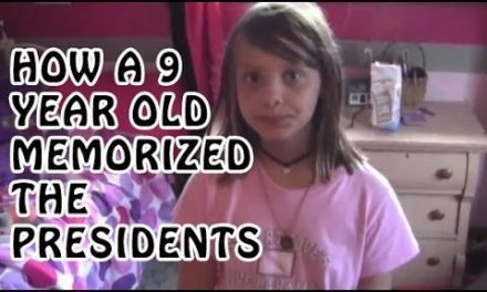 9 Year Old Chloe Memorize Presidents of USA   Memory Training   How to Memorize Presidents