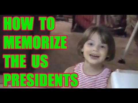 6 year old memorizing presidents of usa