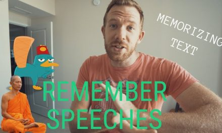 HOW TO MEMORIZE A SPEECH OR TEXT // RANDOM MEMORY TIPS #010