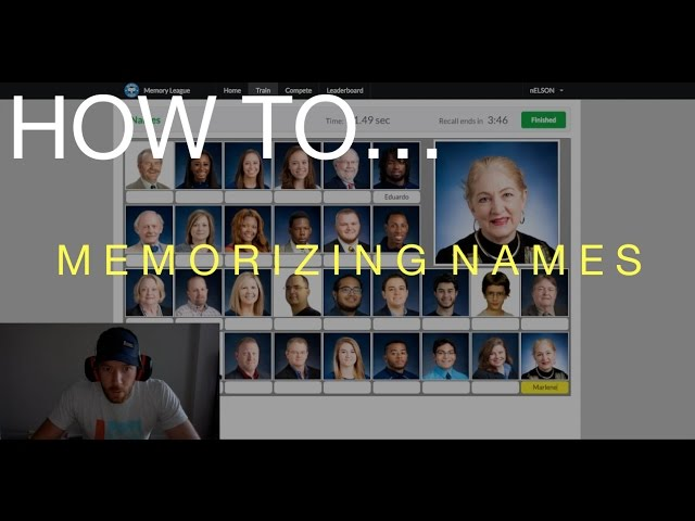 "HOW TO // ""Memorizing 28 names in less than 60 seconds! """