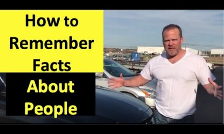 How to remember facts about people