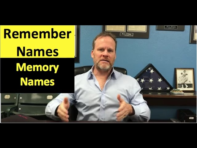 How to Remember Names with Memory Training