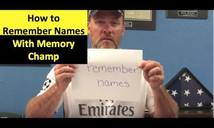 How to Remember Names with Memory Training Pictures