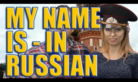 How to say, 'My name is' in Russian