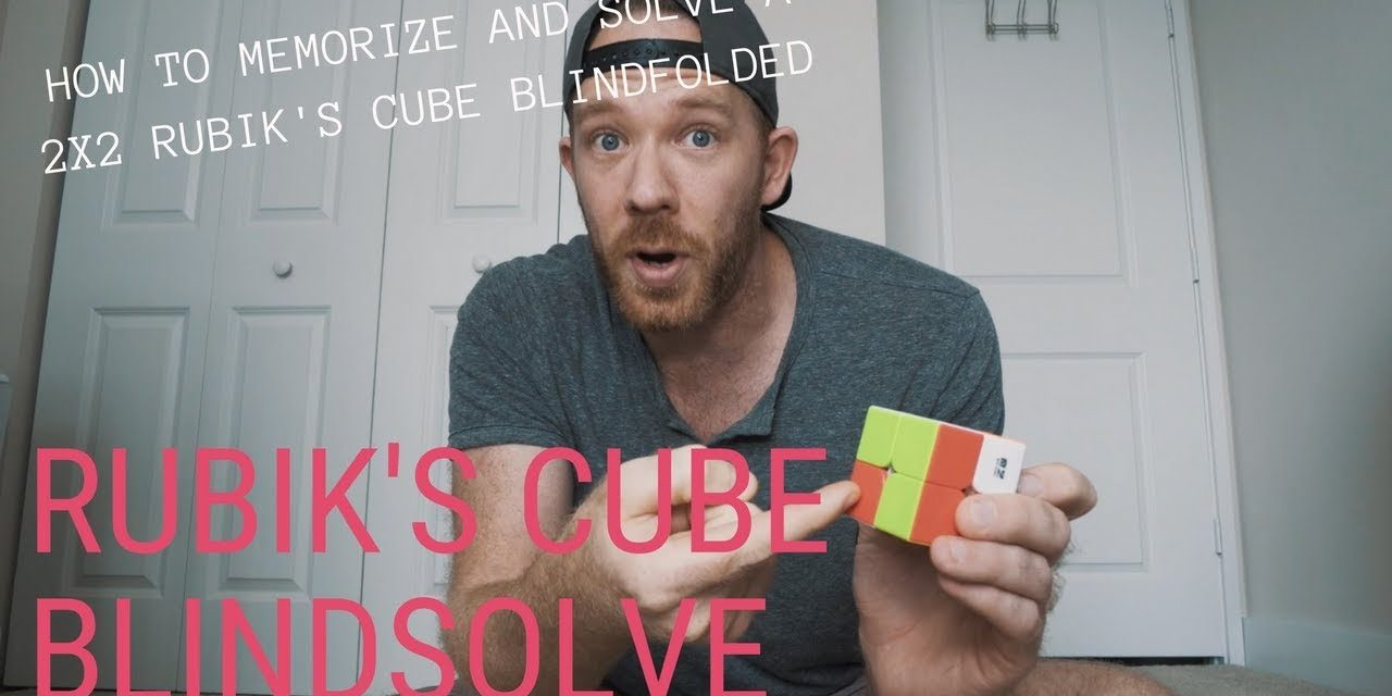 HOW TO SOLVE A 2X2 RUBIKS CUBE BLINDFOLDED // RANDOM MEMORY TIPS 18.12