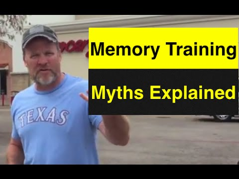 Is Memory Training Too Much Work   How to Memorize