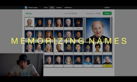 Memorizing 28 names in less than 60 seconds!