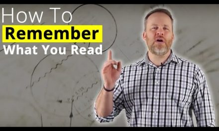 Remember What You Read – How To Memorize What You Read!