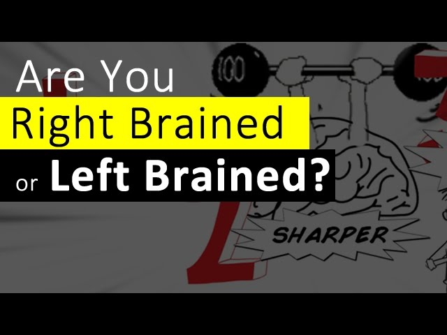 Right Brain Left Brain – Are You Right Brained or Left Brained?