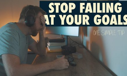 STOP FAILING AT YOUR GOALS // One Simple Tip