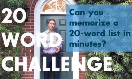 The 20 Word Challenge – with World Memory Champion Alex Mullen