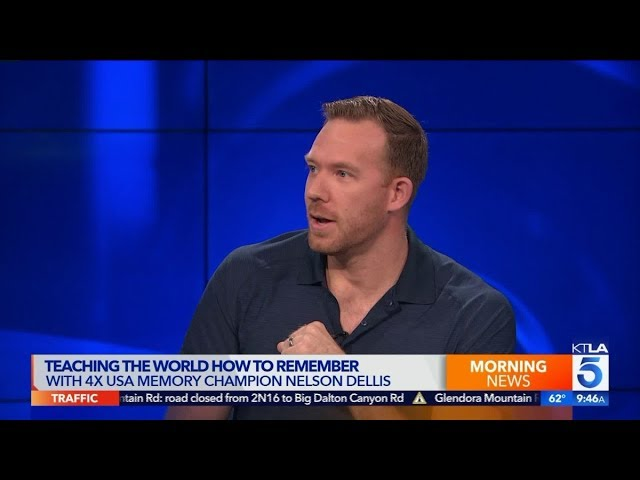 KTLA – Nelson Dellis Interview (2019) // Talking Drops app, book, techniques