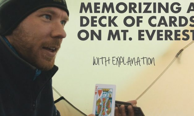 MEMORIZING CARDS ON MT. EVEREST @ 23,300 ft (raw uncut w/ explanation)