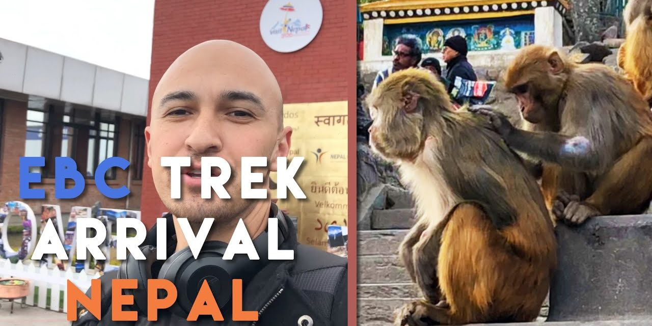 Kathmandu Nepal Arrival with Monkeys | Mount Everest Base Camp Hiking Mt. EBC Trek