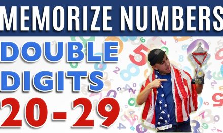 How to Memorize Numbers • 20-29 Double Digits | Major System Memory Training Techniques