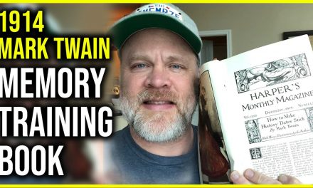 106 Yr Old Memory Training Book by Mark Twain Memorizing History